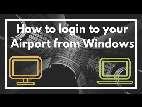How to access and edit your Airport Express / Extreme from Microsoft Windows