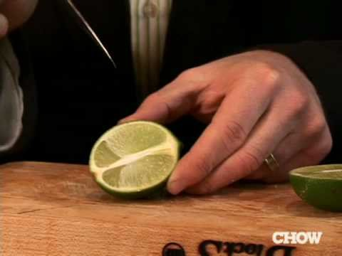 How to Cut a Perfect Lime Wedge - CHOW Tip