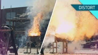 Melting Objects With Super Hot Thermite in Slow Motion