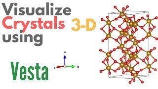 Tutorial of VESTA software for creating crystal structures