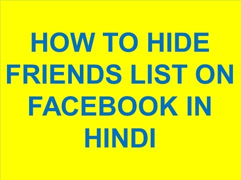 Facebook - How to hide friend list in Facebook Timeline 2015 (NEW)