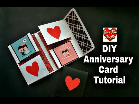 How to Make Anniversary Card | DIY Anniversary Greeting Card | DIY Paper Craft