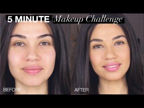 5 MINUTE MAKEUP CHALLENGE!! | EMAN