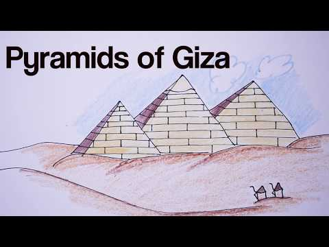 How to draw Giza pyramids