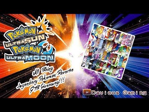 Pokemon Ultra Sun and Moon Shiny Lengendary Reverse GTS Giveaway! Gts Trade Bot