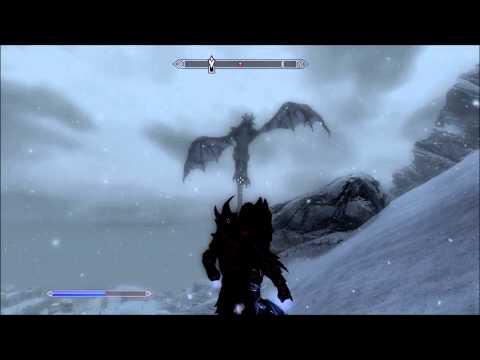 Dragon Flying in Skyrim