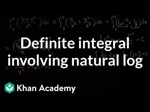 Definite integral involving natural log | AP Calculus AB | Khan Academy