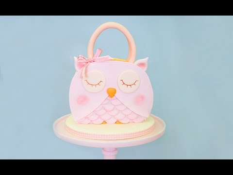 How to make an Owl Handbag Cake Tutorial Preview | Paul Bradford Sugarcraft School