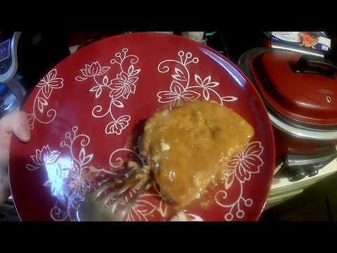 Smothered Pork Chops Freezer Meals Part 2- The Finished Meal