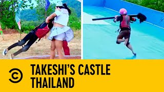 Montage of The Most Epic Fails   Takeshi's Castle Thailand