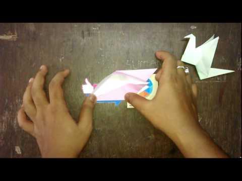 Flaping bird origami