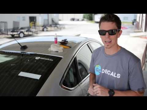 How To Apply a Die Cut Decal or Sticker to Your Car Window
