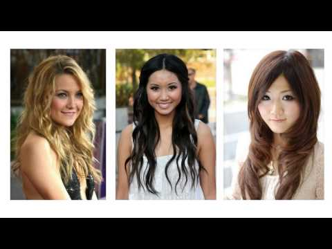 Long hairstyles for round face