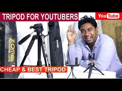 Cheap & Best Budget Tripods to mounting DSLR Camera for Youtubers !