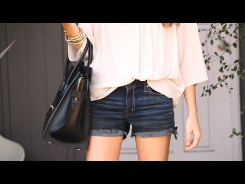 How to Make Cut-Off Denim Shorts || KIN STYLE