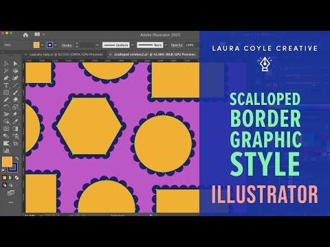 Illustrator Tutuorial: Scalloped Border Graphic Style