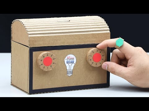 How to Make Safe Lock BOX with Secret Ring Key from Cardboard