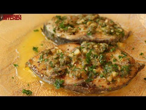 Fish in Lemon Butter Caper Sauce   Keto Recipes   Headbanger's Kitchen