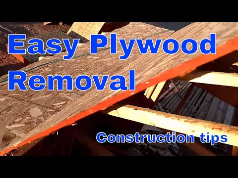 How to remove plywood easily. Framing tips