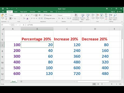 Shortcut Way to Calculate Percentage (Increase/Decrease %) in MS Excel