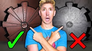 EXPLORING SECRET VAULT & TRAPPED in HIDDEN UNDERGROUND ABANDONED HACKER TUNNEL with PUZZLES!