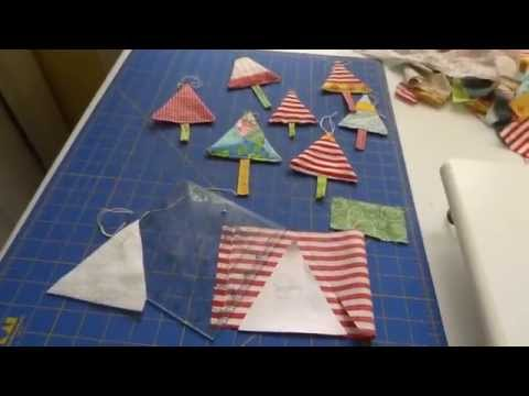 christmas tree ornament- simple sewing project