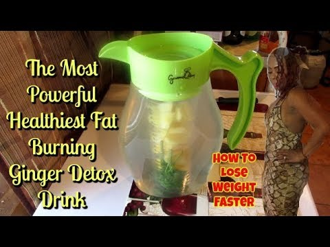 Lose Weight Fast! The Most Powerful  & Healthiest Fat Burning GINGER DETOX Drink Ever !!! UPDATED