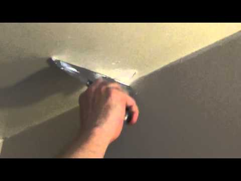 How to Patch a Small Hole in The Ceiling - Fix a Dent in Drywall