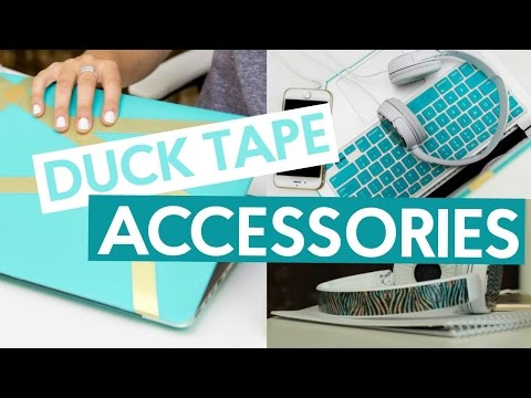 DUCK TAPE ACCESSORIES! | BACK TO SCHOOL