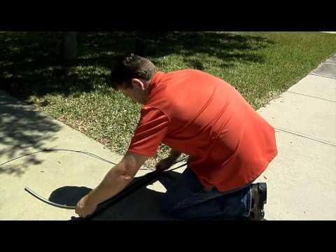 Installing an Under Ground Fence Above Ground