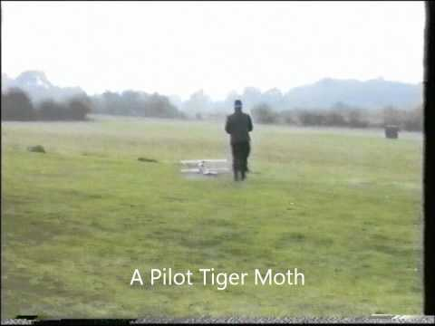 Ron Lloyd's Flair Taube and Plan Built SE5A - Late 80's footage