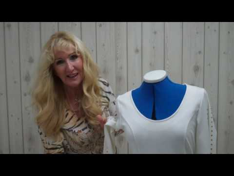 Ladies Dress Front Neck Alteration - Easy made - Lilo Siegel