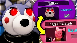 How To Unlock WILLOW SKIN + PIGGY (DISTORTED) SKIN   Piggy [BOOK 2] CHAPTER 12