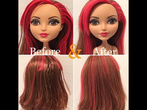 How to Fix Sticky / Greasy Doll Hair - Three Methods Tested