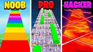 NOOB vs PRO vs HACKER Fortnite Parkour School Challenge! (Learn How to Make Worlds Hardest Map)