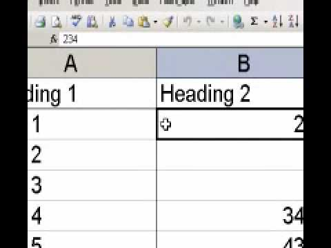 Freezing Panes To Keep Headings in place in excel (Microsoft Excel TIP)