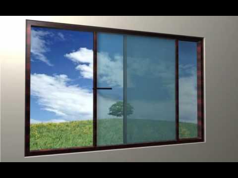 SLIDE WINDOW   COLOR MAHAGONI