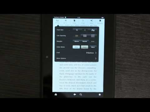 How to Darken Text in Kindle : Kindle 3