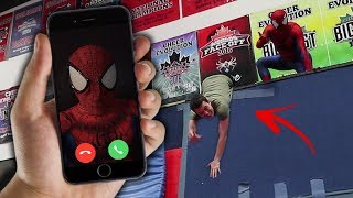 CALLING SPIDER MAN ON FACETIME AT 3 AM!! *HE