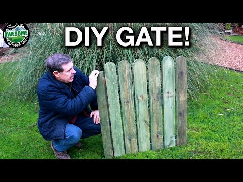 How to make a Picket Gate from Pallet Wood | TAOutdoors