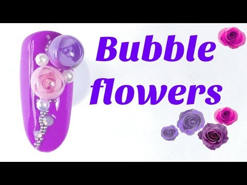 3D Bubble flowers 🌸 Spring nail tutorial | Candy ball