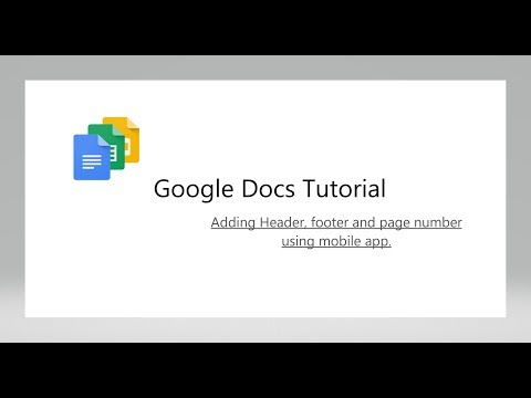 Tutorial : How to add header, footer and page number to google doc using Google Docs android app
