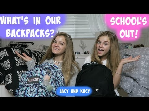 What's In Our Backpacks ~ School's Out ~ Jacy and Kacy