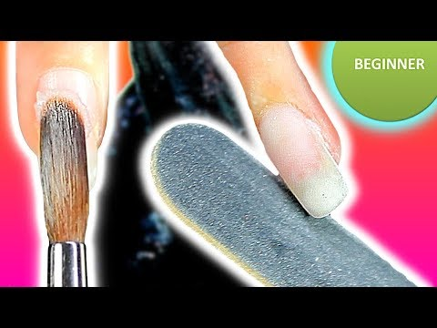 BEGINNER: HOW TO APPLY ACRYLIC NAILS - OVERLAY FOR STRENGTH -- LIQUID & POWDER