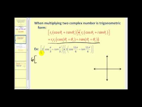 The Product and Quotient of Complex Numbers in Trigonometric Form