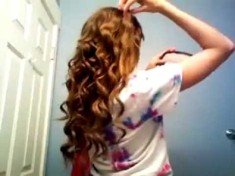 Miley Cyrus Long Curly Hair Tutorial