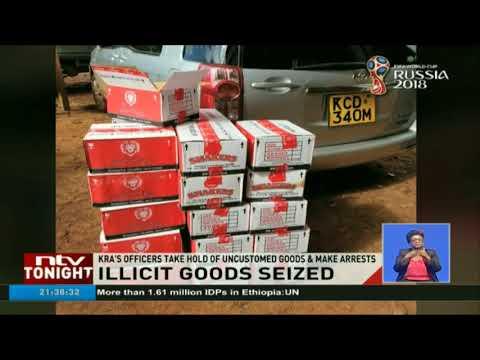 KRA's officers take hold of unaccustomed goods & make arrests