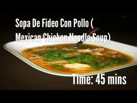 Sopa De Fideo Con Pollo ( Mexican Chicken Noodle Soup) Recipe