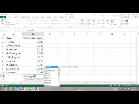 Excel For Noobs Part 57: How to Use Cell Range Names with Functions Excel 2016 2013