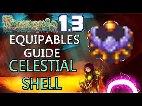 Terraria 1.3 Equipables Guide!: CELESTIAL SHELL! WEREWOLF MERFOLK COMBINED